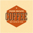 Vector de stock : Retro Vintage Coffee Background with Typography
