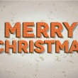 Royalty-Free Stock Vektorfiler: Merry Christmas neon sign on old wall