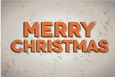 Merry Christmas neon sign on old wall — Vector de stock