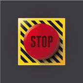 Red stop button — Stock Vector