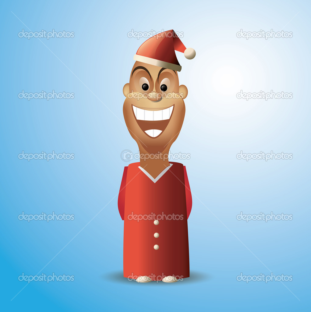 Santa Claus Junior vector — Stock Vector #15418401