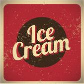 Ice Cream vintage red — Stock Vector