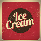 Ice Cream vintage red — Stock Vector