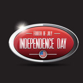 Independence day USA button — Stock Vector