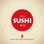 Sushi bar menu — Stock Vector
