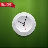 Wall clock red vector — Stock Vector