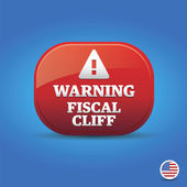 Warning - Fiscal Cliff — Stock Vector
