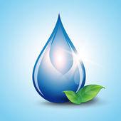 Water drop vector nature background — Stock Vector