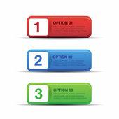 Fondo de botón progreso - etiqueta conjunto — Vector de stock