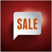 Sale speech bubble tag vintage — Stock Vector