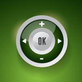 Control Web Element Button — Stock Vector