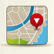 Vector map icon with Pin Pointer — Stock Vector #21312227
