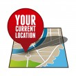 Your current location pointer - Stock Vector