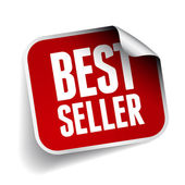 Bestseller sticker with rounded corner — Stock Vector