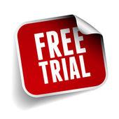 Free trial label vector — Stock Vector