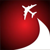 Airplane flight tickets air fly cloud sky blue — Stock Vector