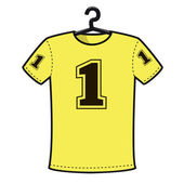 T shirt with number one — Stock Vector