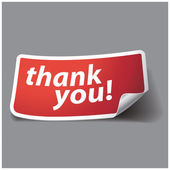 Thank you - grateful label. Vector. — Stock Vector