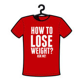 Graphic T-shirt design- How to lose weight? — Stock Vector