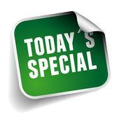 Todays special label green vector — Stock Vector