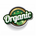 Hundred percent vector organic label — Stock Vector