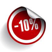 販売のパーセントのラベル。ベクトル. — ストックベクタ