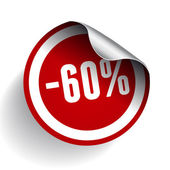 Sale percents label. Vector. — Stock Vector