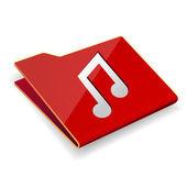 Music folder — Stock Vector