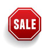 Sale sign button vector — Stock Vector