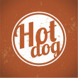 Stock Vector: Vintage Clip Art - Hot Dog