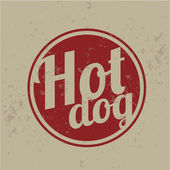 Vintage Clip Art - Hot Dog — Stock Vector