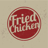 Classic Style Fried Chicken Stamps — Stock Vector