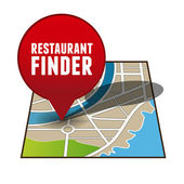 Restaurant finder app button — Stock Vector