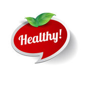 Healthy label vector — Stock Vector