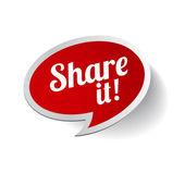 Compartilhá-lo! rótulo de vetor — Vetor de Stock