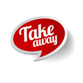 Take away sticker etiket — Stok Vektör