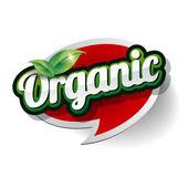 Organic Label vector — Stok Vektör