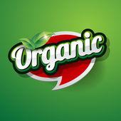 Organic Label vector — Stock Vector