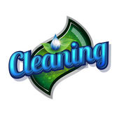 Cleaning service - vintage sign — Vetorial Stock