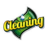 Cleaning service - vintage sign — Stock Vector