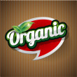 Organic Label vector — Stock Vector