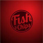 Британский фаст фуд - рыба и чипсы — Cтоковый вектор