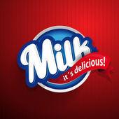 Letras de rótulo de leite - vector — Vetor de Stock