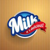 Milk label lettering - vector — Stock Vector