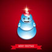 Christmas Snowman vector — Stock Vector