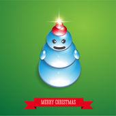クリスマス雪だるまベクター — ストックベクタ
