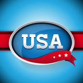 USA label or button — Stock Vector