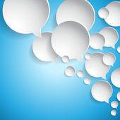 Círculos de papel blanco abstracto - burbujas de discurso — Vector de stock