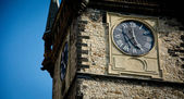 Clock tower - town hall in Prague — Stock Photo