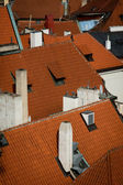 Old town roofs - Prague — Stock Photo